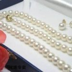 Women's Wedding >>17 INCHES LONG. 6-7MM White Real Cultured Pearl Necklace + Earring Set