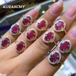 KJJEAXCMY Fine <b>jewelry</b> Fine 1.5 Carat Natural Burma Ruby Women Ring Wholesale 925 <b>Silver</b> Inlay Support Identification