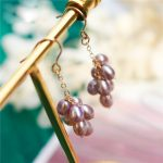 Customize Natural Purple Freshwater Pearl Earrings14K Gold Filling <b>Handmade</b> Brincos Vintage <b>Jewelry</b> Not Fade Party Pendientes