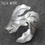 Fyla Mode 42g New Fashion Bangle Wide Cuff Opened Antique Thai <b>Silver</b> Leaf <b>Bracelet</b> Cuff Factory Price For Wholesale PKY324