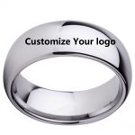 Custom Name Wedding Anniversary Date Logos <b>Jewelry</b> 8mm Black/ Silver/Black Rose Gold Tungsten Rings Personalize Your Style