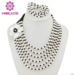 Fashion Freshwater Rice Pearl Jewelry Set Pearl Beads Design Lady Jewelry Set Free Shipping FP118