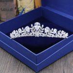 Gorgeous Vintage Clear Cubic Zirconia <b>Wedding</b> Tiara CZ Bridal Queen Princess Pageant Royal Party Crown Women Hair <b>Jewelry</b>