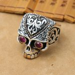 NEW <b>Handmade</b> 925 Silver Skull Ring Male Ring Vintage Silver Skeleton Man Ring Pure Silver Male Ring <b>Jewelry</b> Gift