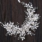 2018 Luxury Silver Leaf Crystal Bridal Headband Tiara Fashion <b>Wedding</b> Hair Accessories Engagement Party Bride Hairband <b>Jewelry</b>