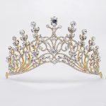 Rhinestone Hair Accessories For Girls Woman Fashion Hairwear Forehead <b>Jewelry</b> Gold Crystal Crown Tiara King Headband Headdress