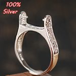 13*14MM 100% Pure Silver Ring Blank To <b>Make</b> a Diy Mosaic Of Turquoise And Stone Amber Cask Pearl Ring