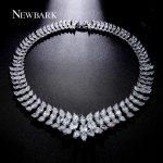 NEWBARK Luxury <b>Wedding</b> Chocker Necklace Classical Boho Engagement With AAA Cubic Zirconia Bridal Necklaces & Pendants <b>Jewelry</b>