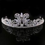 Paved CZ Crown Cubic Zircon Tiara Princess Tiaras <b>Wedding</b> Hair Accessories Bride Hair <b>Jewelry</b> Bijoux Cheveux Coroa WIGO1090