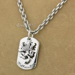 925 Sterling <b>Silver</b> King Lion Dog Tag Biker Pendant 9S120A 925 Sterling <b>Silver</b> <b>Necklace</b> 24 inches
