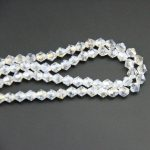Free Shipping 4mm Clear AB Bicone Crystal Beads Charm Glass Loose Spacer For DIY <b>Jewelry</b> <b>Making</b>
