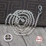 S925 Sterling <b>Silver</b> <b>Necklace</b> Indian style retro cruciform hawk hook Personality classic feather series Send a gift to love