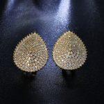 Luxury Heart shape Earrings Setting with Cubic Zirconia <b>Wedding</b> Earring Free Allergy Lead Free vintage <b>jewelry</b>