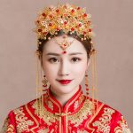 Vintage Chinese Hair Styles Headpiece <b>Jewelry</b> Traditional Bridal Headdress <b>Wedding</b> Gold Color Coronet Headwear Long Chain Tassel