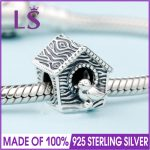2018 Spring New Real 925 <b>Silver</b> SPRING BIRD HOUSE CHARM Fit Original Bracelets&<b>Necklace</b> DIY Gift.Women Wedding Jewelry Beads.XZ