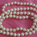 Prett Lovely Women's Wedding NATURAL 8-9MM AAA+ WHITE freshwater PEARL NECKLACE BRACELET ^^^@^Noble style Natural Fine jewe