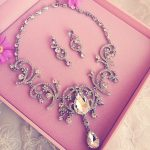 bridal necklace earrings luxurious rhinestone <b>jewelry</b> crystal Wedding Accessories <b>jewelry</b> set women bijoux necklace earrings