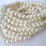 (Min Order1) 8 rows 6-7mm white fresh water pearl Bracelet 7.5 inch Fashion Beads <b>Jewelry</b> <b>Making</b> Design Female Bracelet 7.5inch