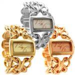 Wholesales 3PCS. Lots Japan PC21S Quartz Good Chain Gold <b>Silver</b> Rose Gold Stylish <b>Bracelet</b> Watch FW675 Double Jewelry Clasp