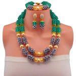 Luxury African <b>Jewelry</b> Nigerian <b>Wedding</b> Party Beads Necklace Set Women Costume <b>Jewelry</b> Set Free Shipping