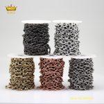 Black Glass Beaded Chains,5Meters 6mm K9 Glass Plated Rose Gold/Silver/Golden/Gunmetal/White K Rosary Chains <b>Supplies</b> Bulk HX157