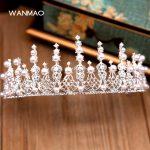 High-grade new crystal beaded headband crown tiara <b>wedding</b> crown accessories female <b>jewelry</b> HD421