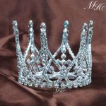 Mini Wedding Crowns Round Bridal Tiaras Rhinestones Crystal Bridesmaid Diadem Quinceanera Prom Party Hair <b>Jewelry</b>