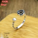 100% 925 Sterling Silver Adjustable Ring Blank Tary Round Fit .5MM Setting Tray Bead <b>Antique</b> Silver