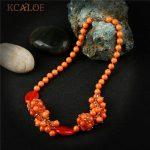 KCALOE Orange Natural Stone Statement Necklace For Women Fashion <b>Wedding</b> Engagement Party Necklaces & Pendants Handmade <b>Jewelry</b>