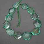 News Green Druzy Necklace Beads, Freeform Shape Gems Stone Necklace Beads, Slice Connector Charm <b>Jewelry</b> <b>Making</b> Loose Beads