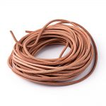 Leather Beading Cord, Cowhide Leather, DIY Necklace <b>Making</b> Material, Peru, Size: about 3mm thick, about 100m/bundle