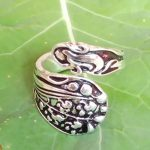 Morning Glory Flower Gorham Vintage Spoon Ring Buttercup <b>Antique</b> Silver Plated Handmade Adjustable Rings Fashion <b>Jewelry</b>