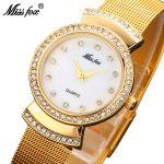 MISSFOX Miss Fox Brand Women Watches <b>Silver</b> Quartz Wrist Watches For Women Fashion Gold Ladies Watch <b>Bracelet</b> Bayan Kol Saati