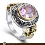 New! Stunning Fashion <b>Jewelry</b> Pink Kunzite Quartz 925 Sterling Silver Ring R805