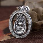 990 <b>Silver</b> Antique handicraft, twelve zodiac Bodhisattva pendant Pendant