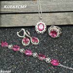 KJJEAXCMY Fine jewelry, 925 <b>silver</b> inlay natural Topaz powder suits simple and elegant women wholesale