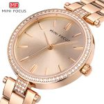 MINIFOCUS Rose Gold Women Watches Stainless Steel Gold <b>Silver</b> Diamond Ladies Girls Wristwatch Quartz <b>Bracelet</b> Watch For Female
