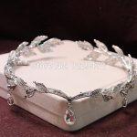 TREAZY Rhinestone Crystal Bridal Hair Accessories Wedding Waterdrop Leaf Tiara Crown Headband Frontlet Bridesmaid Hair <b>Jewelry</b>