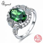 lingmei New Arrival Classic Oval Cut Green & Red CZ 925 Sterling Sliver Ring Size 6 7 8 9 <b>Wedding</b> Anniversary Women <b>Jewelry</b> Gift