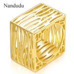 Nandudu Square Style Series Rings Men Women Girl Unisex Ring <b>Accessories</b> Fashion <b>Jewelry</b> Gift for Cocktail Dancing Party