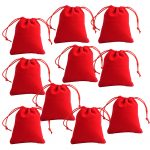 Velvet <b>Jewellery</b> Drawstring Wedding Party <b>Decor</b> Favour Pouches Gift Bags ( Pack of 10)