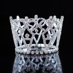 Mini Small Tiaras Handmade Hair Round Crown Bridesmaid Headpiece Clear Rhinestones Crystal Hair Accessories Silver <b>Jewelry</b>