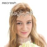 Mecresh Spring Flowers Simulated Pearl Bridal Headband Silver Color Crystal Wedding Hair Accessories <b>Handmade</b> <b>Jewelry</b> MTS063