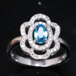<b>Handmade</b> Light Blue Cubic Zirconia Gems 925 Sterling Silver Women's Party <b>Jewelry</b> Solitaire Rings US# Size 6 7 8 9 S1719