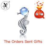 YB 5ct Genuine Sky Blue Topaz and Amethyst Prehnite Rose Quartz Pendant <b>Necklace</b> 925 Sterling <b>Silver</b> With the Chain