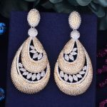 GODKI 68mm Popular Luxury Waterdrop Leaves Full Cubic Zirconia Women Naija Bridal Engagement <b>Wedding</b> Earring <b>Jewelry</b> Addiction