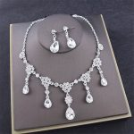 Luxury Crystal <b>Jewelry</b> Sets for women Bride Wedding <b>accessories</b> Prom Dinner Necklaces Earrings Fashion Necklaces/Earrings set