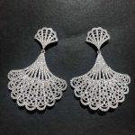 XIUMEIYIZU Luxury Fine Drop Earrings Hollow Fan Shape Full Micro Pave Zircon Earring <b>Wedding</b> <b>Jewelry</b> for Women