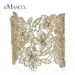 eManco 2018 Spring/Summer new trendy bracelets for women bud silk series zinc alloy crystal bracelets bangles <b>jewelry</b> BL06527