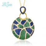 l&zuan Pendant Women For Necklace No Chain S925 <b>Sterling</b> <b>Silver</b> Fine <b>Jewelry</b> Round Multicolor Cubic Zirconia Drop Shipping